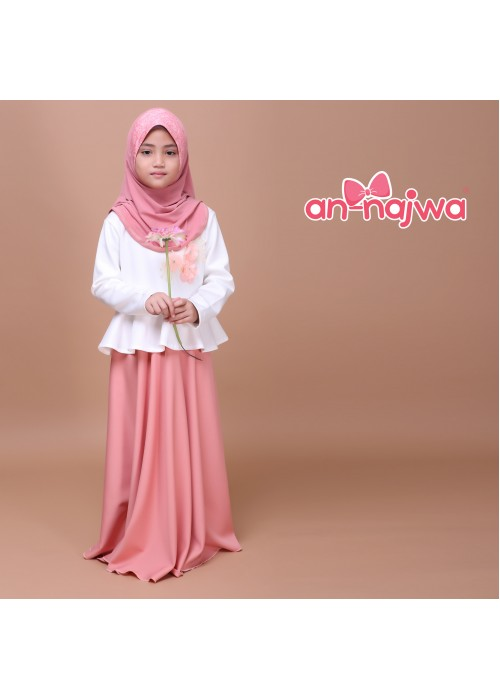 DRESS PRINCESS PEACH SALMON ANNAJWA
