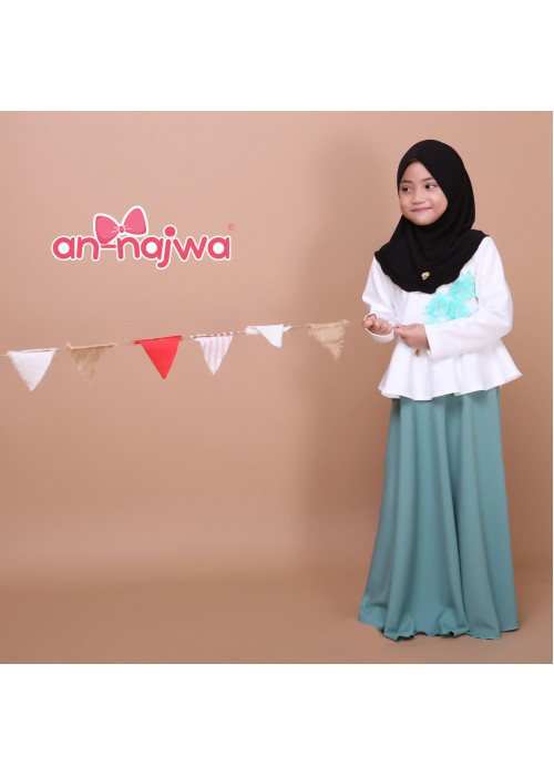 DRESS PRINCESS APPLE GREEN ANNAJWA