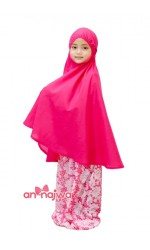 Telekung Kanak-Kanak Batik Pink