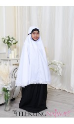 TELEKUNG KANAK-KANAK SMOCKING NORMAL KAIN BLACK (7 -9YEARS OLD)