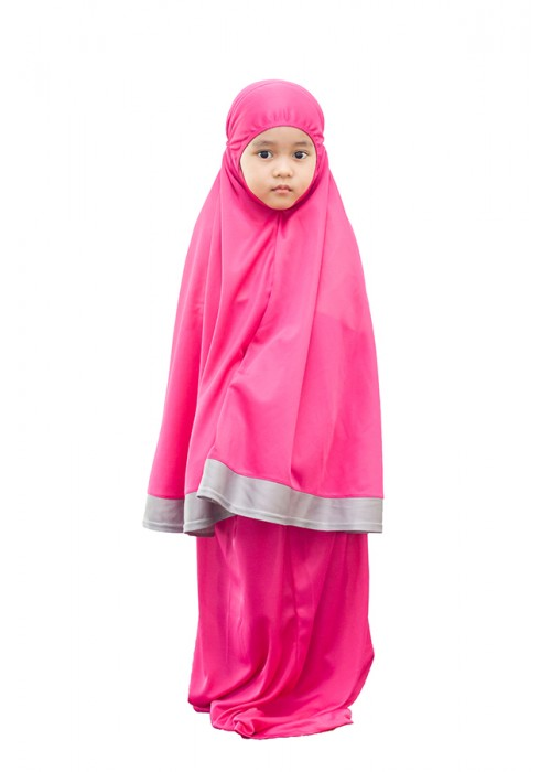 TELEKUNG KANAK-KANAK ARANDA PINKBERRY GREY (10-12 YEARS OLD)