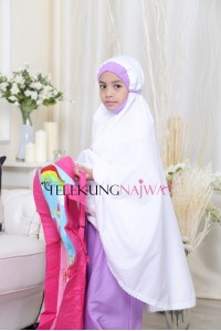 TELEKUNG KANAK-KANAK SMOCKING NORMAL KAIN PURPLE (7 -9YEARS OLD)