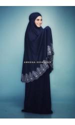 TELEKUNG ARAFAH LACE AMEENA EKSKLUSIF BLUE BLACK