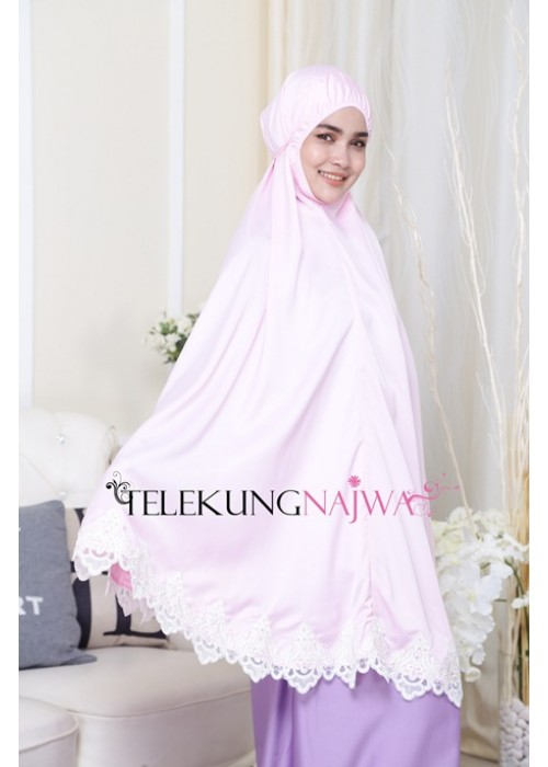 SAFAMARWAH BRIDAL COLLECTION - PUPLE PINK 'WHITE LACE'