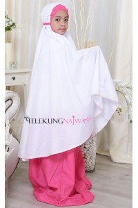 TELEKUNG KANAK-KANAK SMOCKING NORMAL KAIN PINK 10-12YEARS OLD)