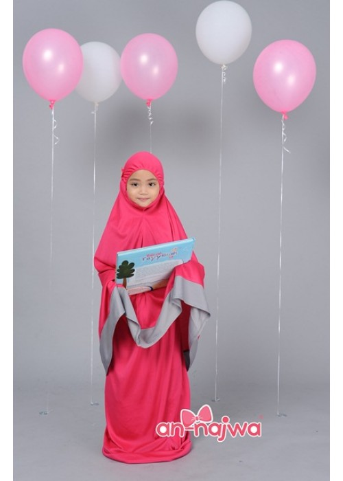 TELEKUNG KANAK-KANAK ARANDA PINKBERRY GREY (4-6 YEARS OLD)