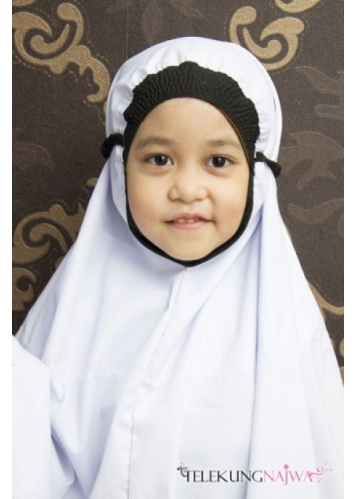 TELEKUNG KANAK-KANAK SMOCKING NORMAL KAIN BLACK (4 -6YEARS OLD)